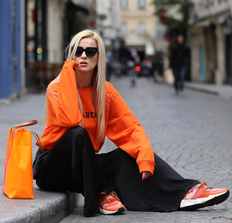 Pablo Orange sweater sweatshirt