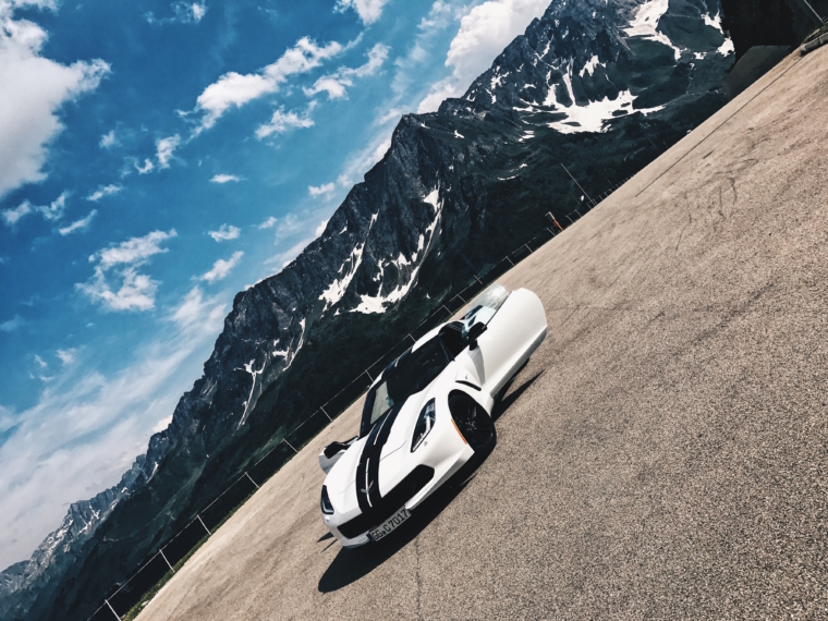 find the new roads roadtrip with corvette stingray switzerland mountains