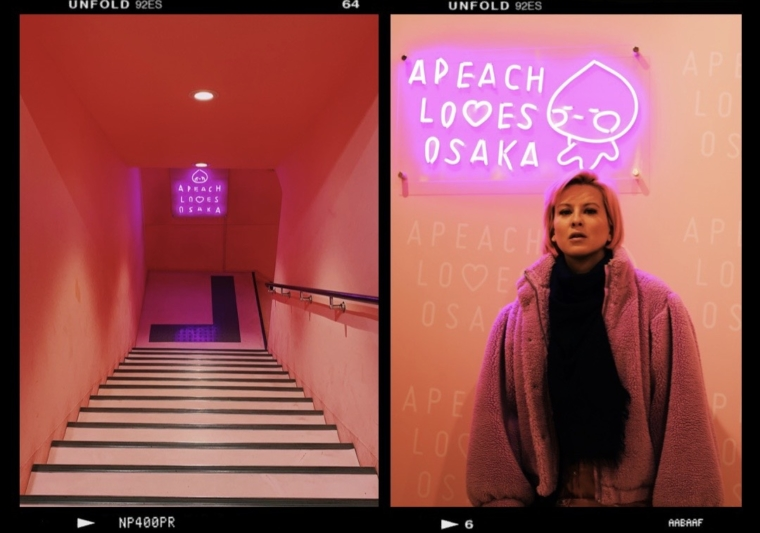 Osaka japan pink