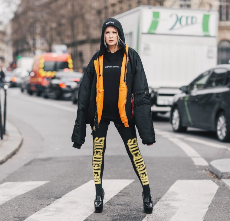 palina pralina vetements total look luisaviaroma lvr pfr paris fashion week streetstyle 2017