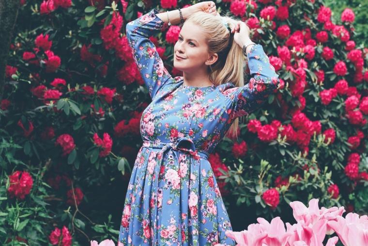 flower floral print dresses trend must have 2017 blumenprint