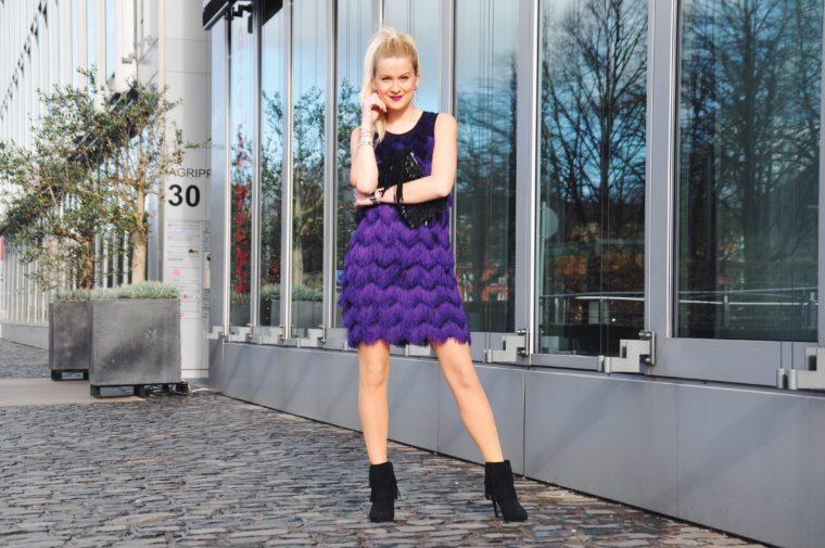 Riani Sommer 2016 Lila Fransen Kleid