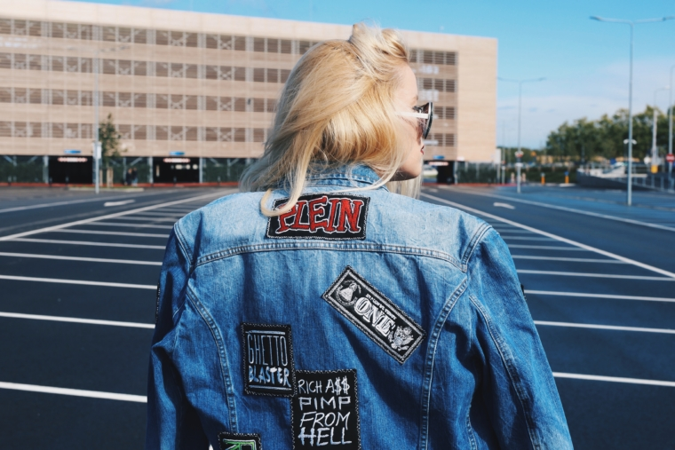 philipp plein jeans jacket patches trend