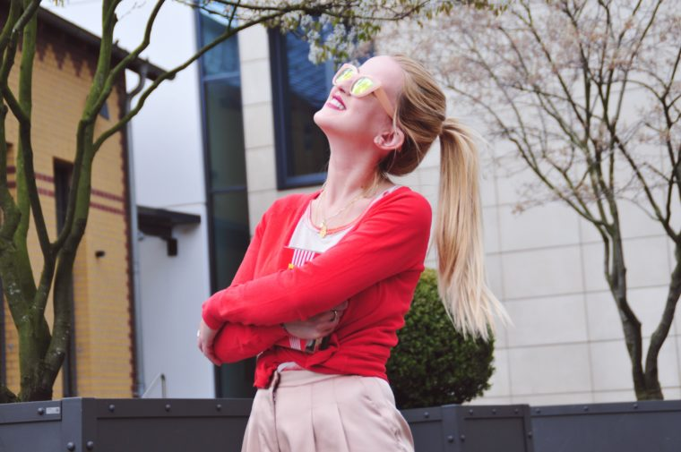 blonde beautiful russian girl smile
