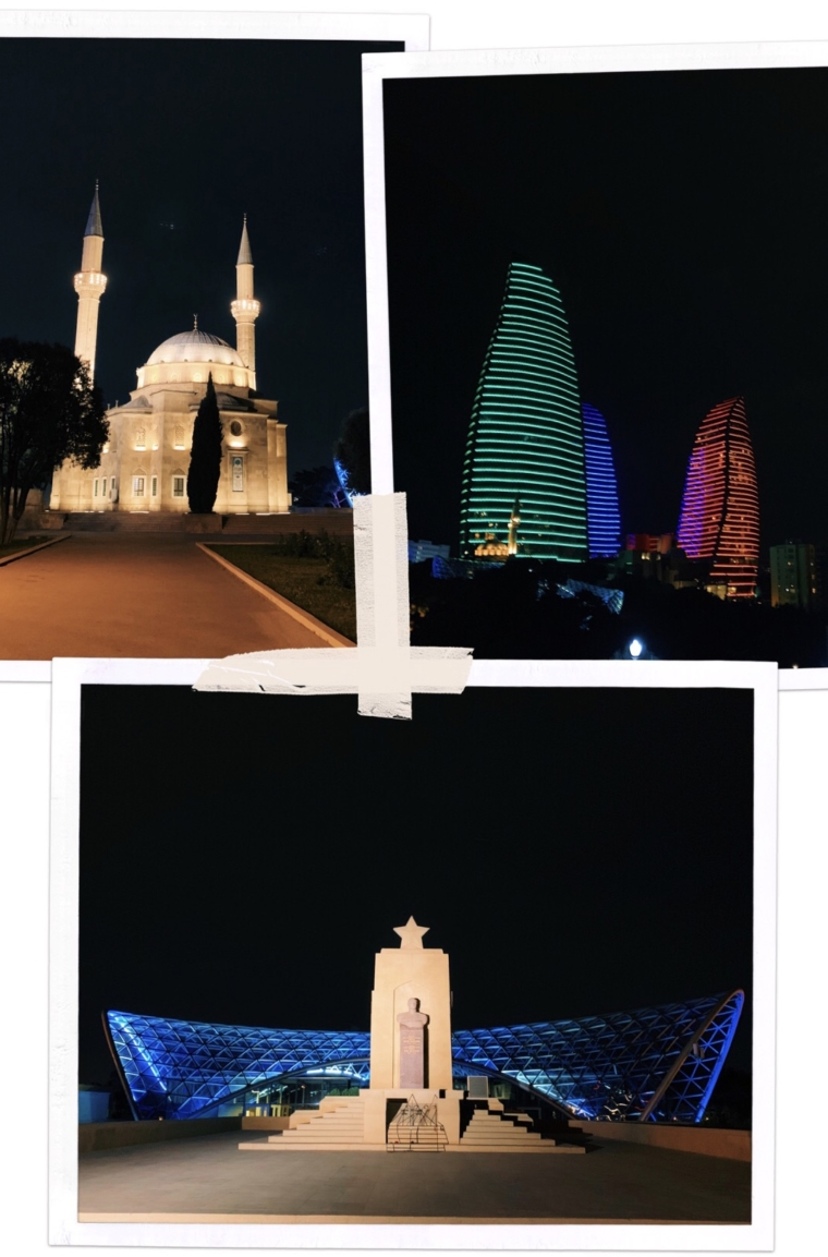 baku by night Azerbaijan