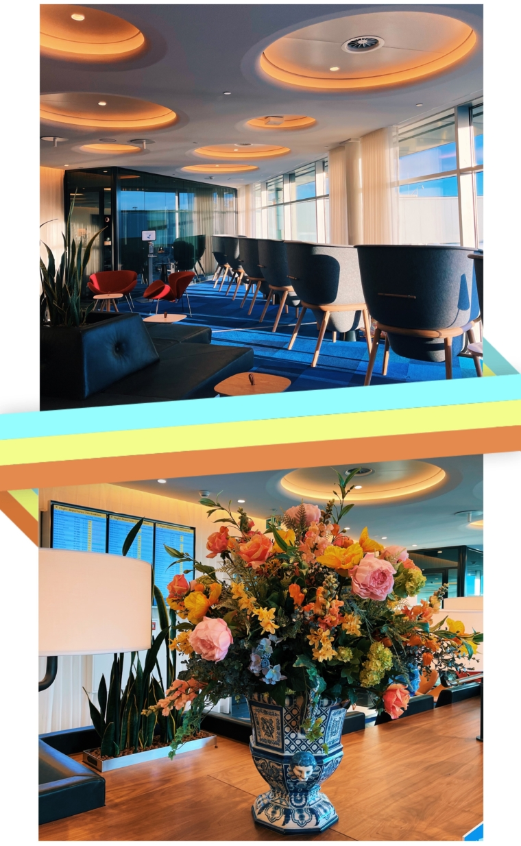 klm amsterdam crown business class lounge