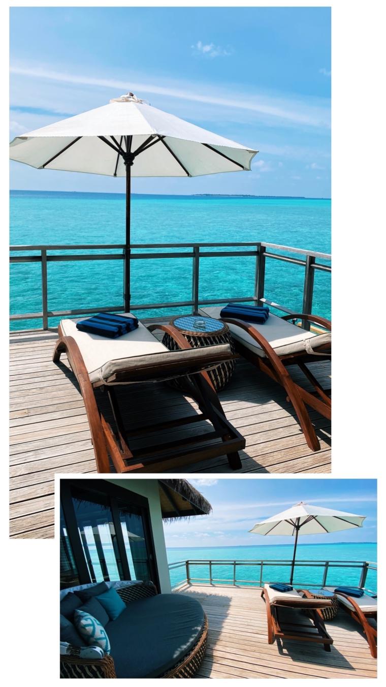 Velassaru Maldives Room over water villa Bungalow