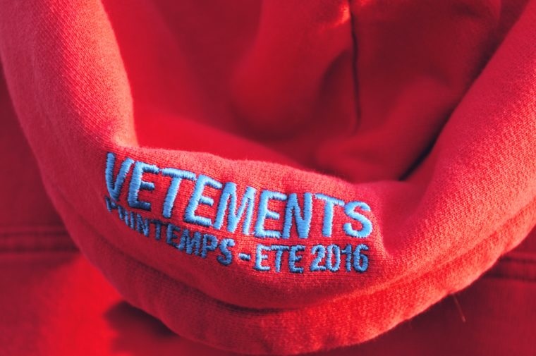 vetements demna gvasalia show vogue shooting details new collection red