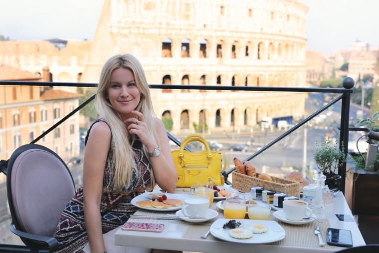 breakfast terasse palazzo manfredi rome italy luxury hotel