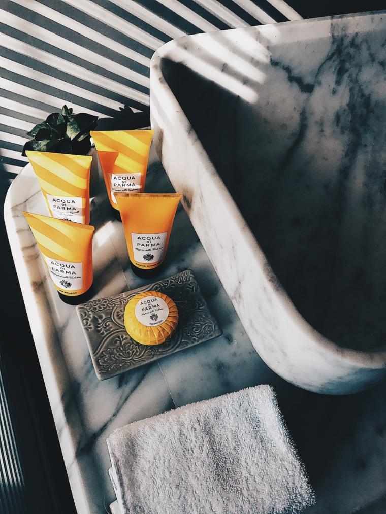 acqua di parma products hotel palazzo manfredi rome italy