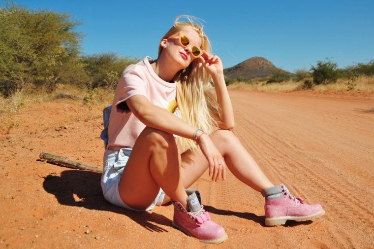 cat foot wear caterpillar pink limited edition scene clash