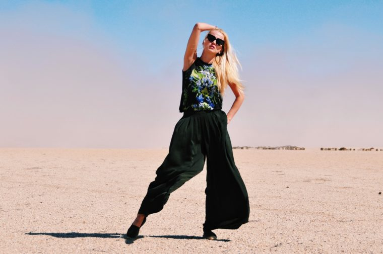 fashion shooting in the namib desert namibia africa