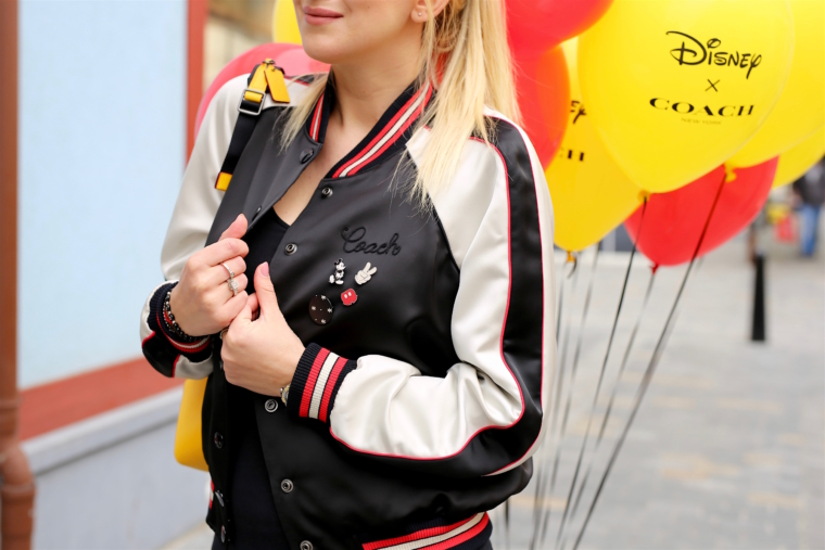 satin bomber jacket coach disney