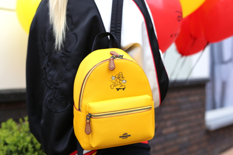coach x disney limited edition collection yellow backback roermond outlet