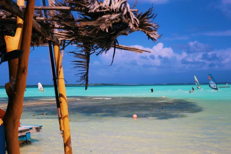 Bonaire surfing surf kite