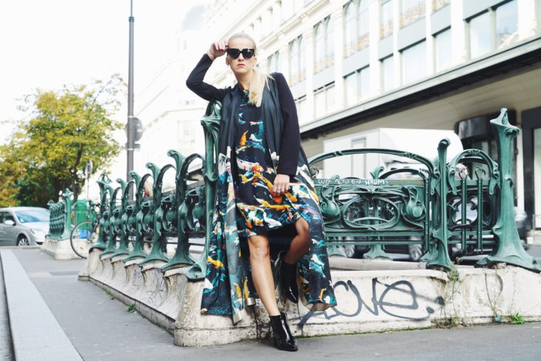 House of Cannon Silk Cape Dress