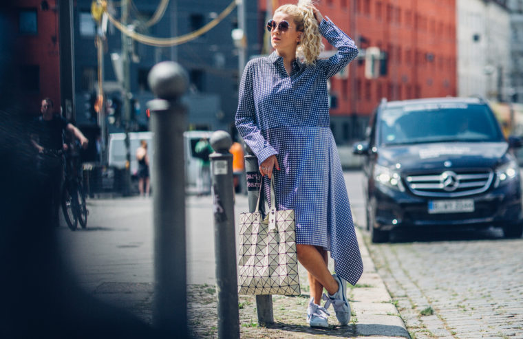 mercedes benz fashion week berlin streetstyle gingham trend 2017
