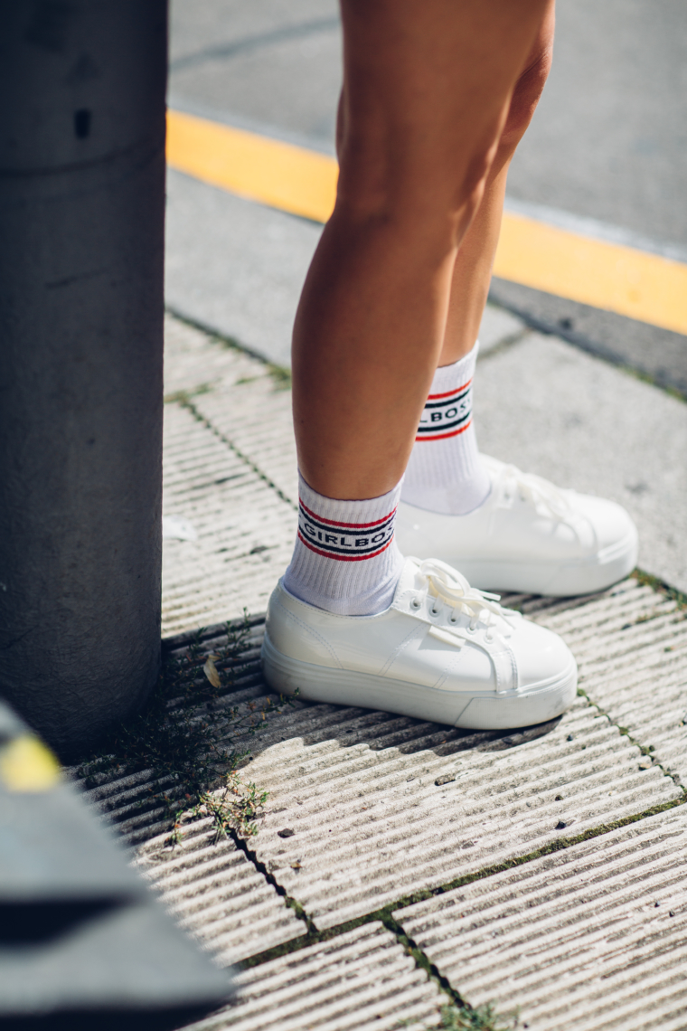 palina kozyrava shop girlboss socks statement