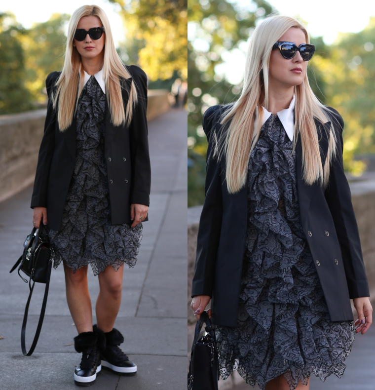nicopanda organza dress at paris fashion week 2016 streetstyle