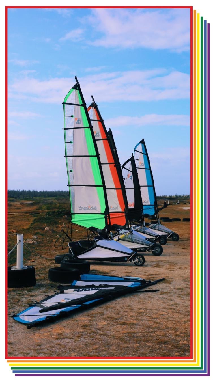 land sailing bonaire