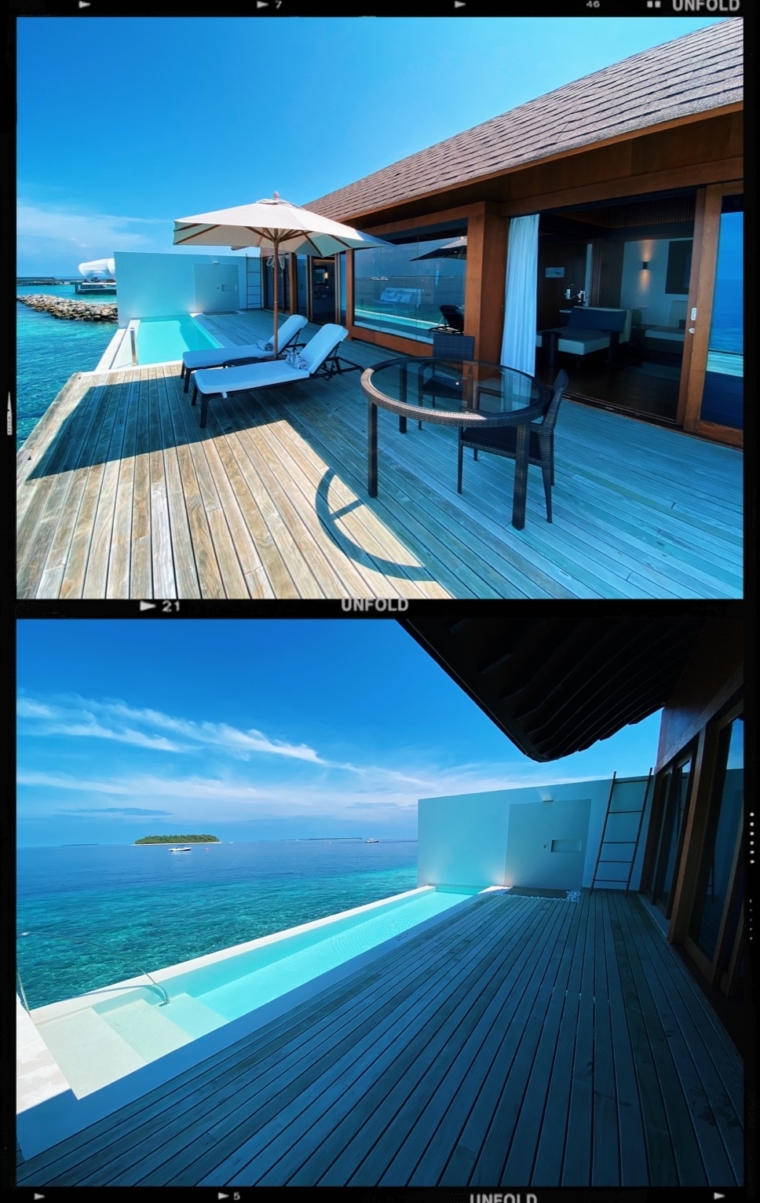 westin maldives room overwater over water villa bungalow with private pool